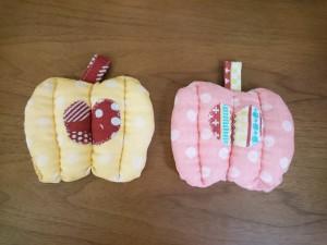 リンゴ型 ポットマット(鍋つかみ)作り方