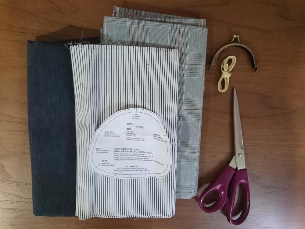 敬老の日に、がま口財布の作り方