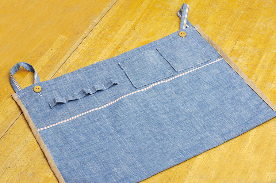 壁掛け収納袋の作り方