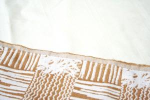 秋カラーの生地で簡単かわいいスカートの作り方